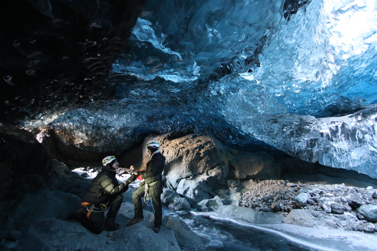 Getting Engaged Inside An Ice Cave