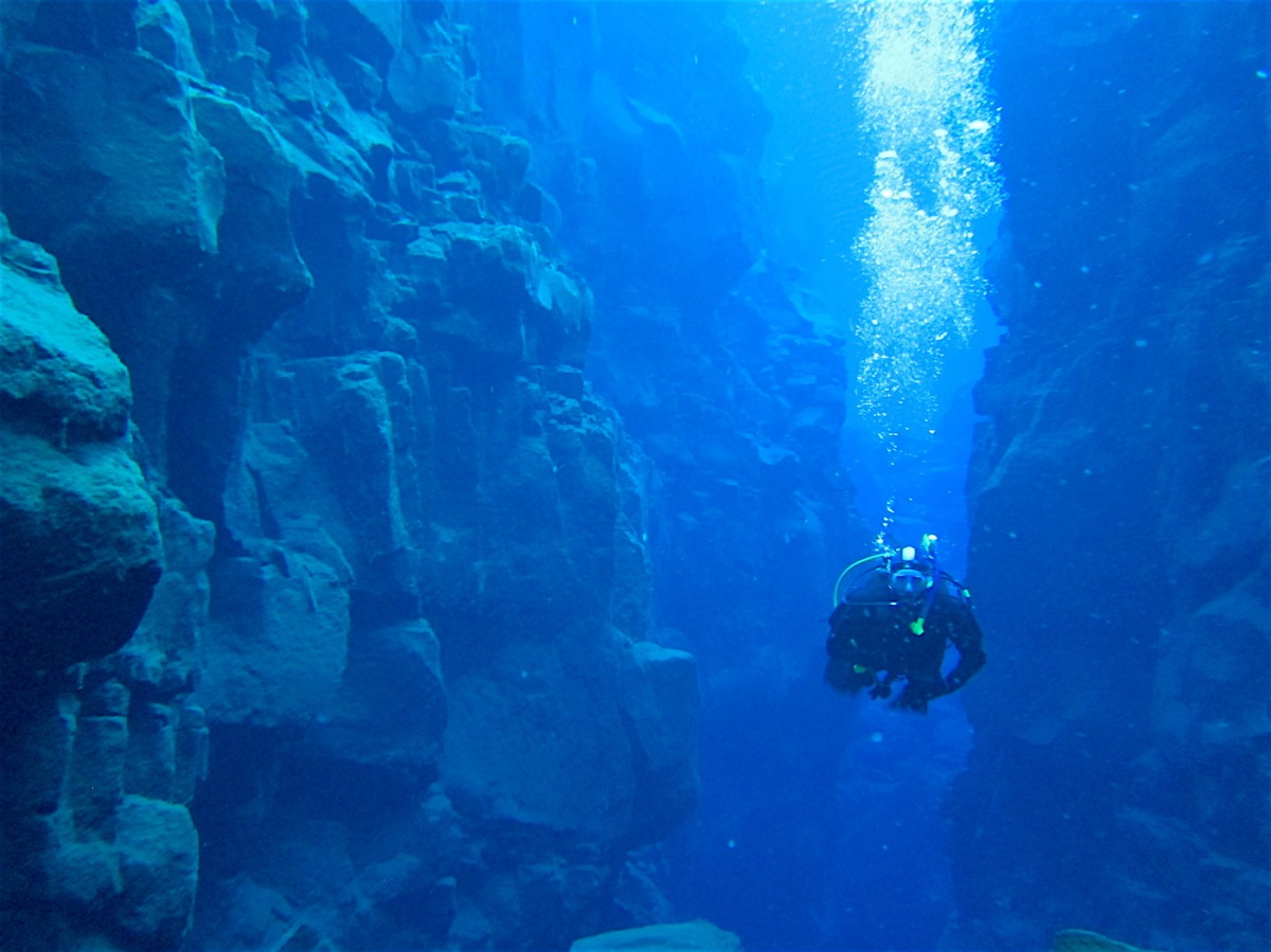A Brisk Morning Scuba Dive Between Tectonic Plates