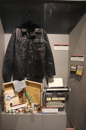 The jacket Gacy was arrested in and his personal typewriter