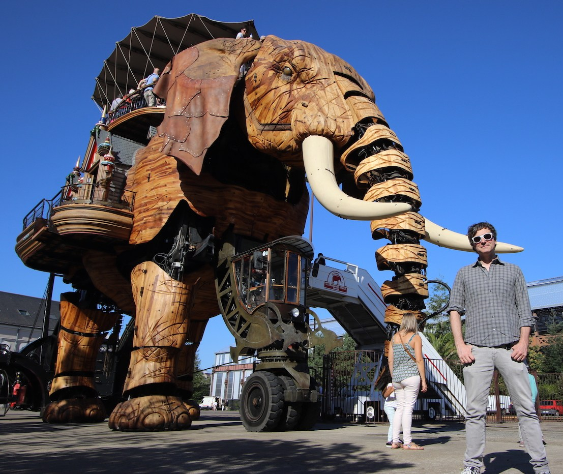 You Haven't Seen France Until You've Seen It Atop A Four-Story Mechanical Elephant