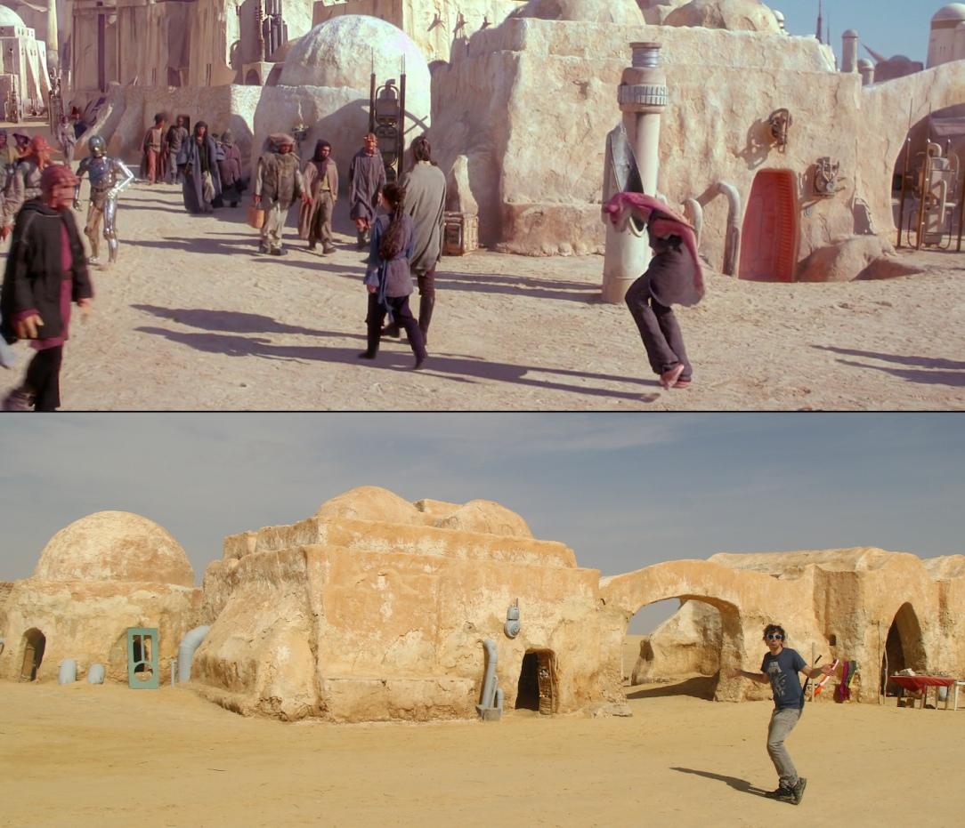 Star Wars Locations: Mos Espa set from Phantom Menace in Tunisia