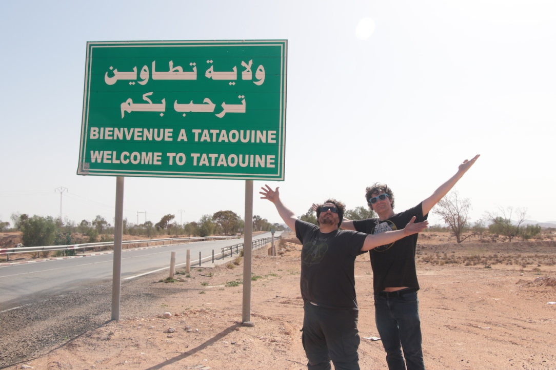 Star Wars Locations In Tunisia: Welcome to Tataouine sign (Welcome to Tatooine!)