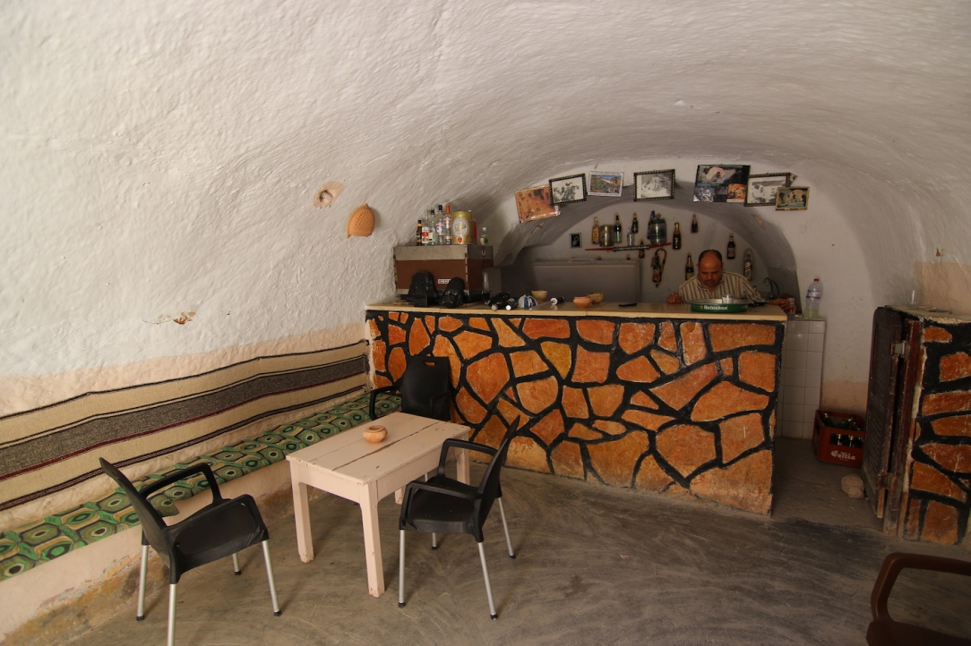 Star Wars Locations: The bar at the Sidi Driss Hotel in Matmata, Tunisia which stood in for Luke Skywalker's house