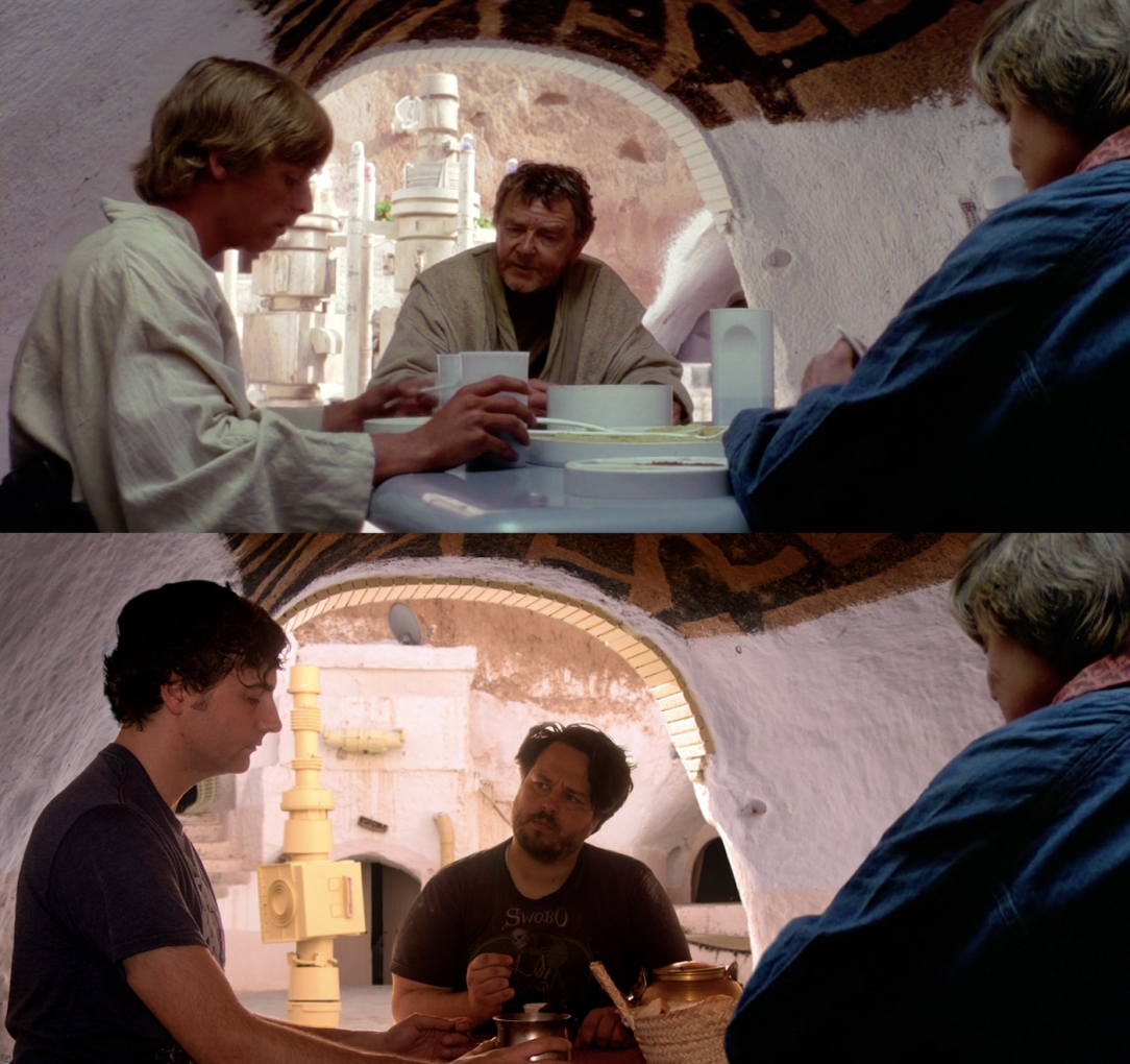 Star Wars Locations: Dinner with Uncle Owen and Aunt Beru in the dining room at the Sidi Driss Hotel in Matmata, Tunisia which stood in for Luke Skywalker's house