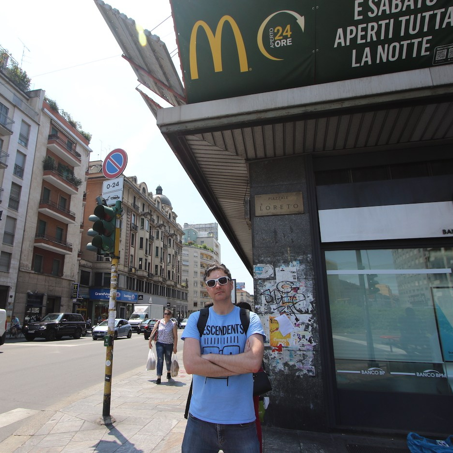 The Mussolini McDonalds in Piazzale Loreto in Milan, Italy